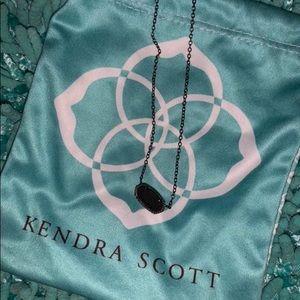 Black Drusty Kendra Scott necklace